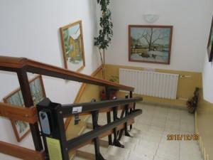 Lépcsőház, felvonó